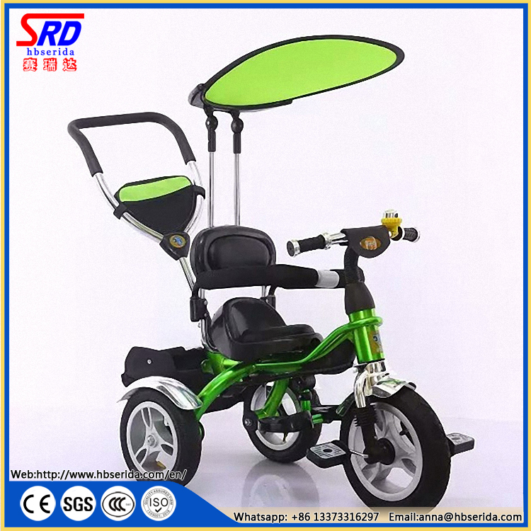 SRD-206 平蓬合金烤漆儿童手推三轮车